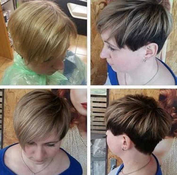 Основные принципы техники колорирования на коротких волосах