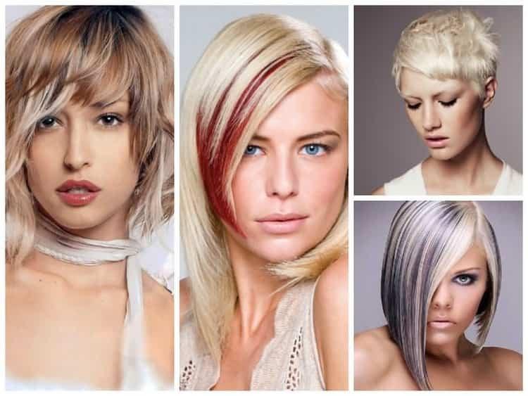 Колорирование коротких волос фото до и после