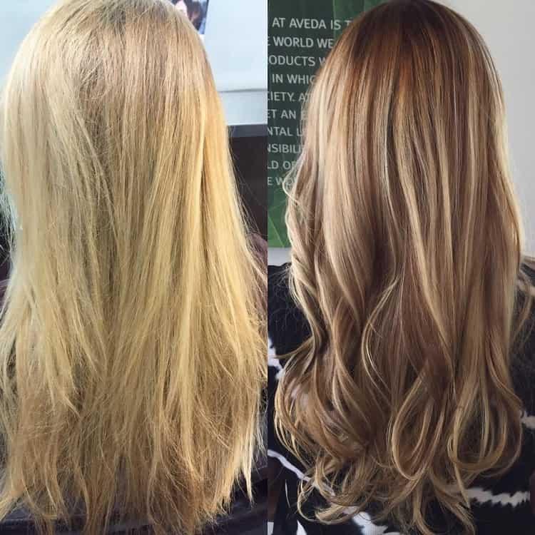 Колорирование на русые волосы с фото и видео