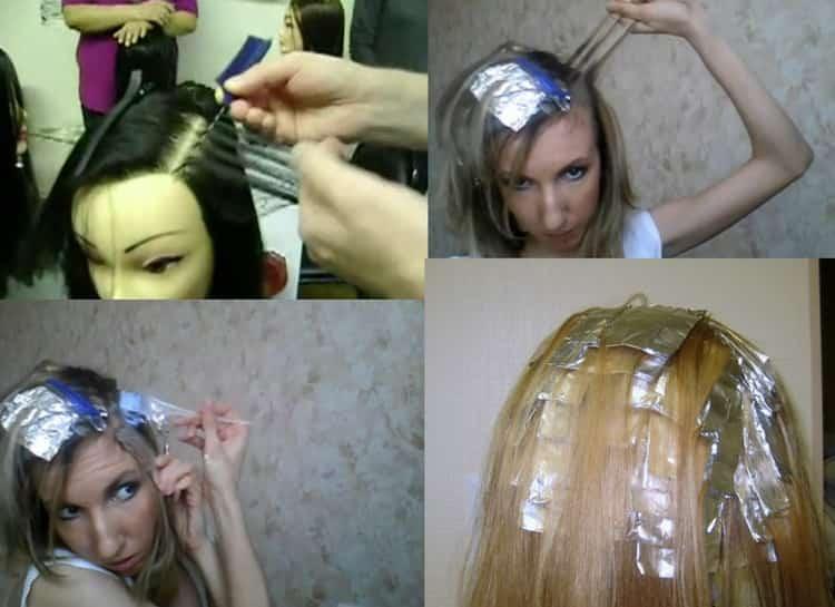 Колорирование на русые волосы в домашних условиях