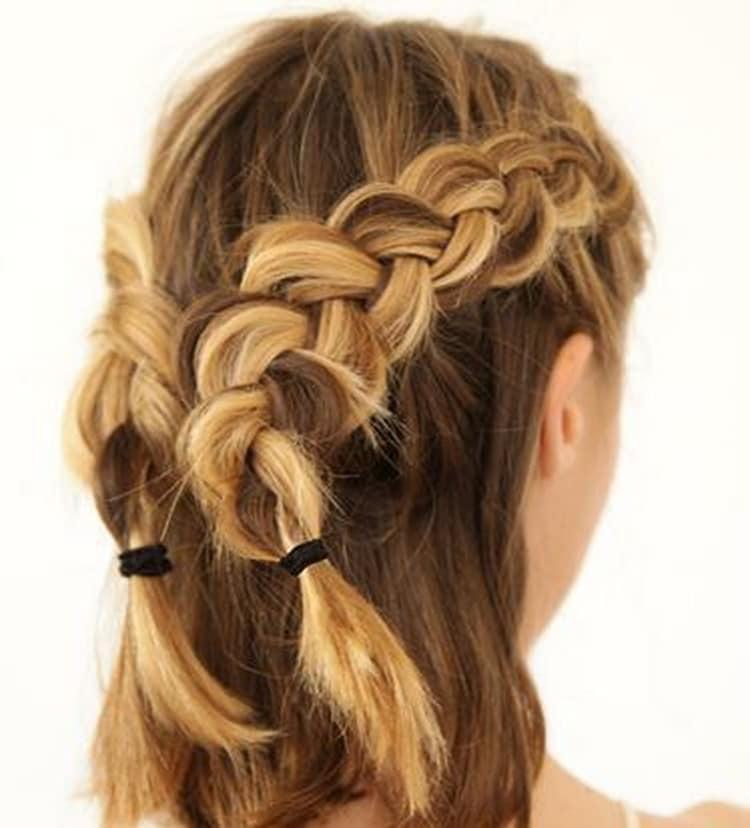 Как делаются красивые прически на короткие волосы: фото