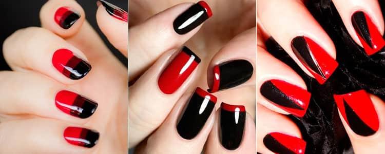 Как сделать френч красный и рисунок на ногтях, фото