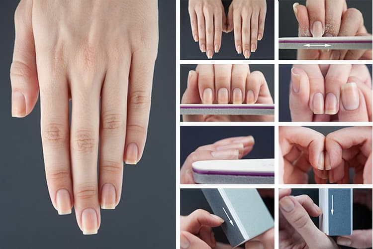 Как делается квадратная форма ногтей