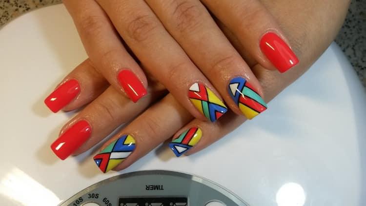 Как выглядит фото нарощенных ногтей квадратной формы