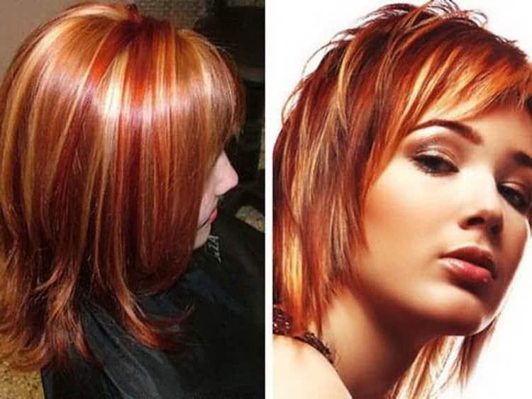 Мелирование в нестандартных цветах на короткие волосы