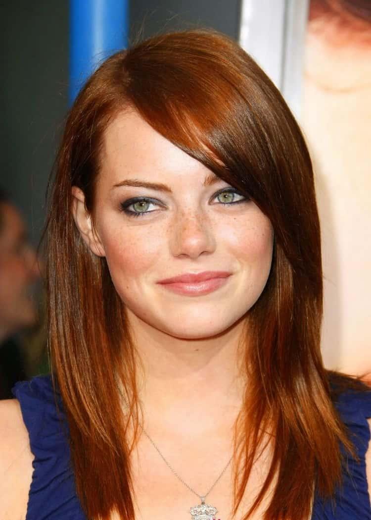 Рыжий цвет волос с мелированием: фото