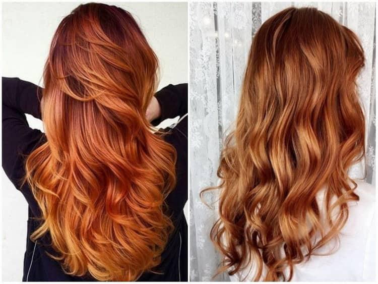 Всё о технике мелирования на рыжие волосы