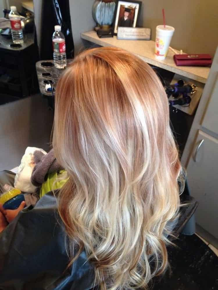 Мелирование на рыжие волосы с фото и видео