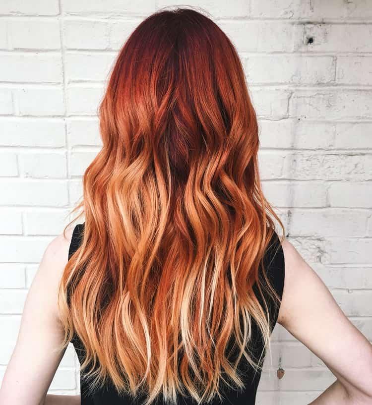 Частое мелирование на рыжие волосы