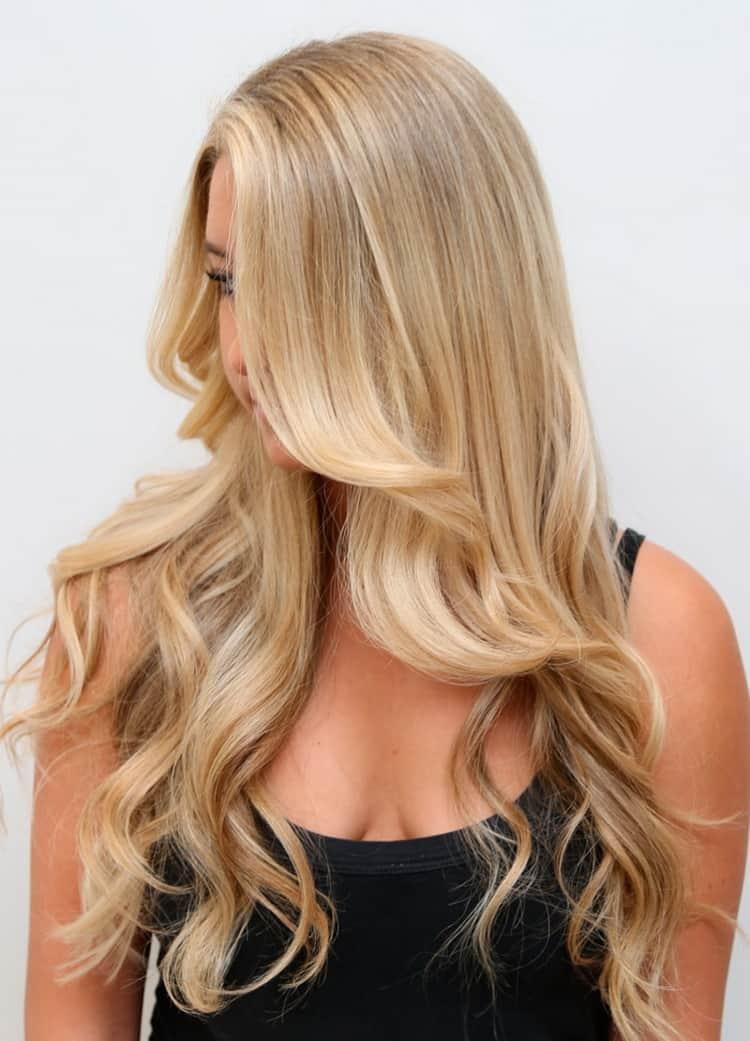 Красивое мелирование на светлые волосы фото