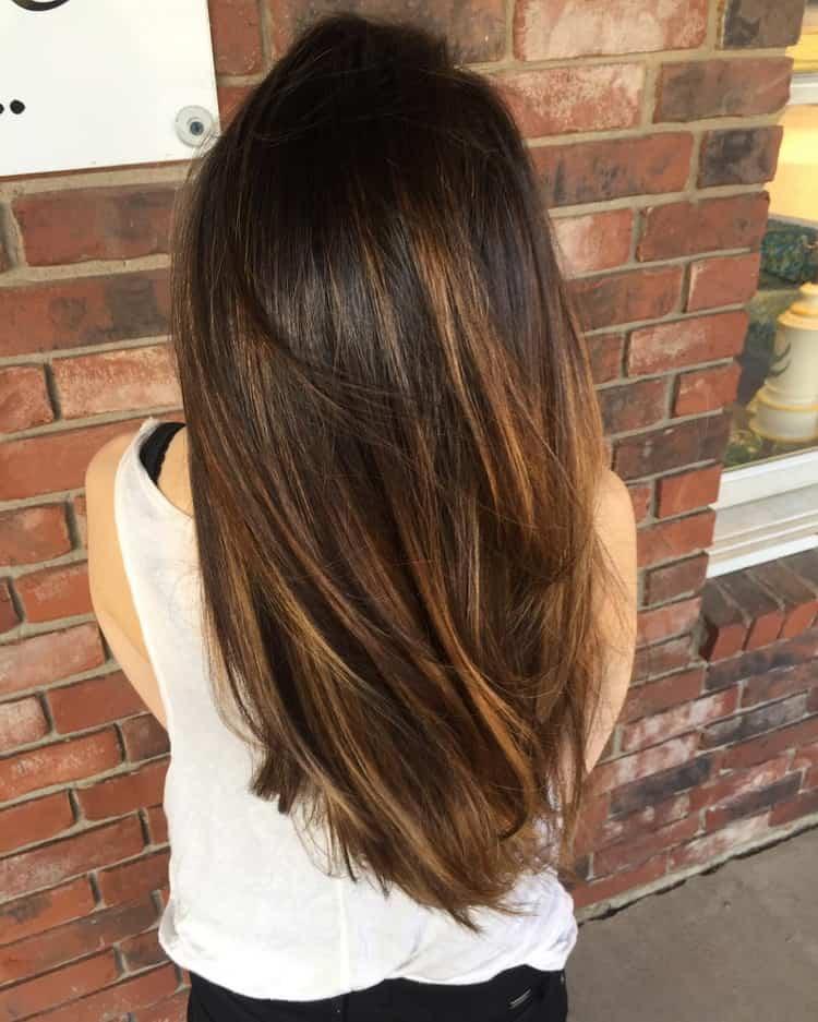 Мелирование на темные волосы с тонированием: фото