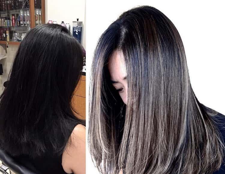 Как сделать мелирование на черные волосы