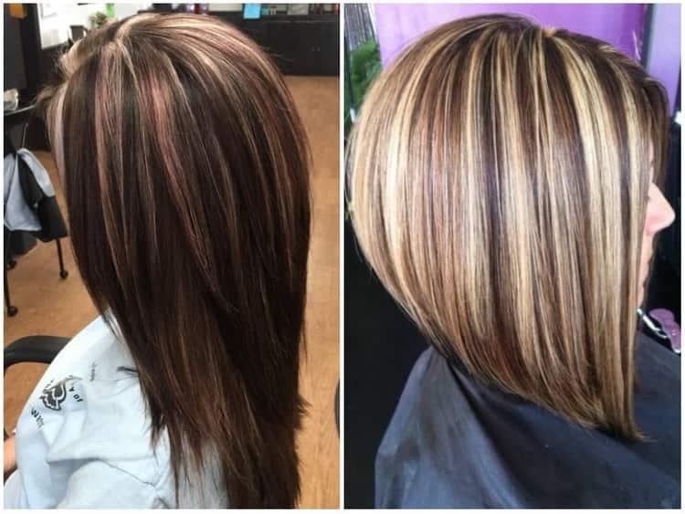 Красивое мелирование на темные волосы: фото