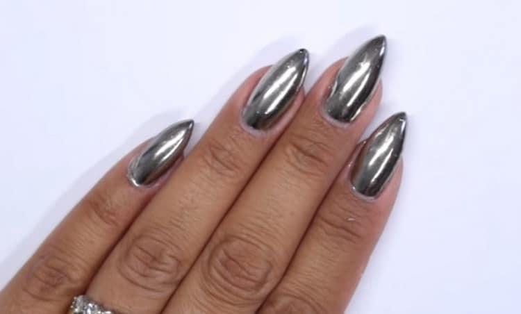 дизайн ногтей на форму миндаль