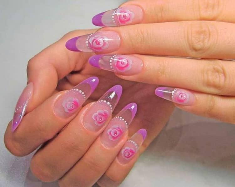 Идеи дизайна для миндалевидной формы ногтей с фото и видео