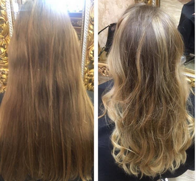 Как сделать омбре на длинные русые волосы