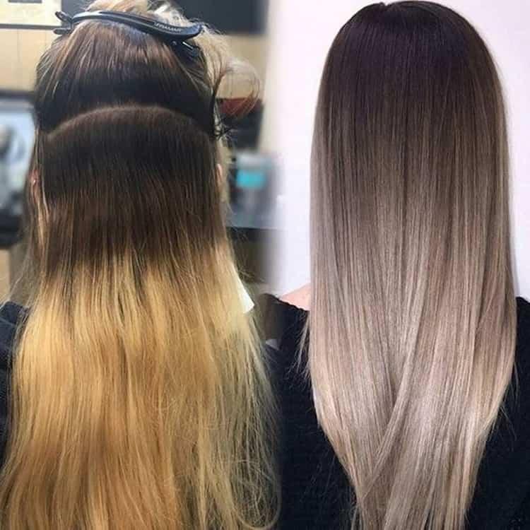 Как делается окраска волос омбре на длинные волосы фото