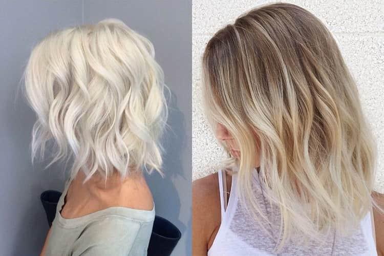 Обесцвечивание темных волос: фото до и после