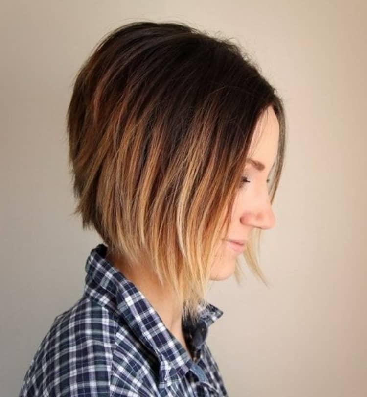 Омбре на короткие волосы в домашних условиях