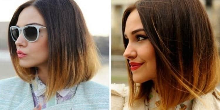Как сделать омбре на короткие волосы: видео