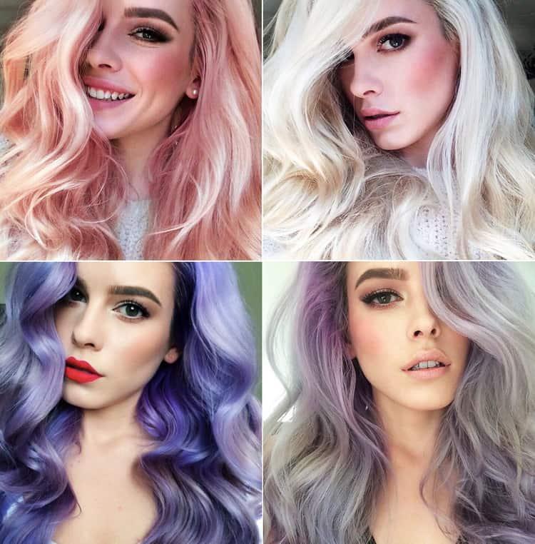 Окрашивание омбре на светлые волосы: фото