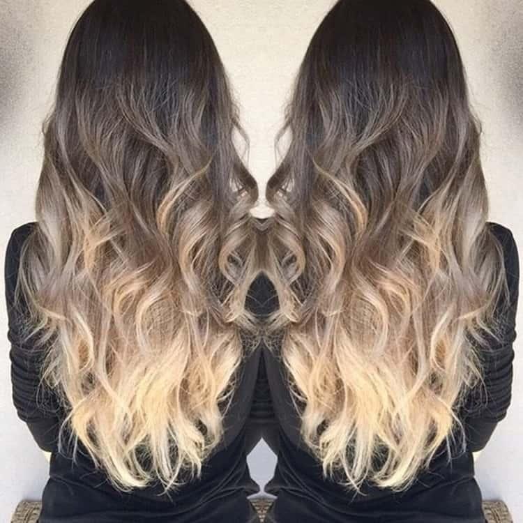 Как сделать цветное омбре на светлые волосы