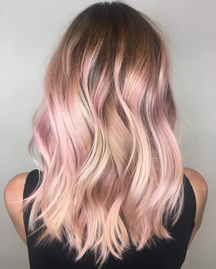 Омбре на светлые волосы средней длины: фото