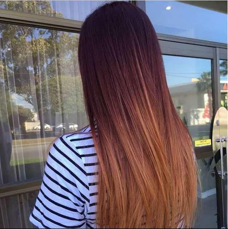 Как сделать красивое омбре на темные волосы средней длины