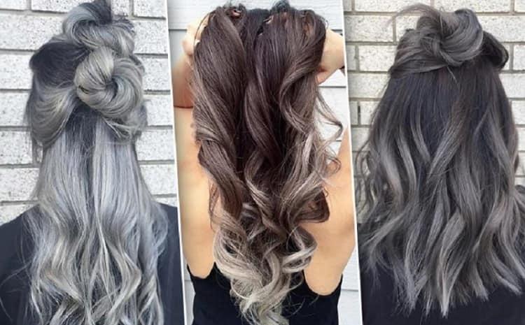 Как сделать пепельный цвет волос омбре
