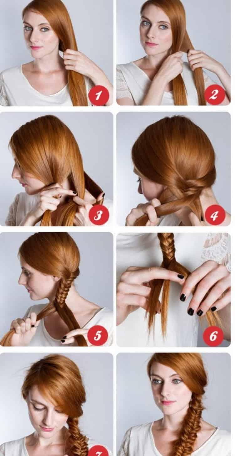 Как делается прически косы на средние волосы, фото