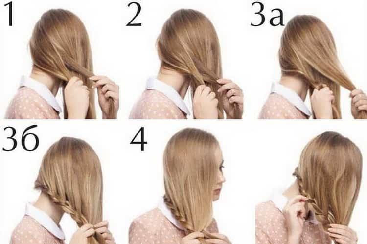 Как делается прическа с косой на средние волосы, фото