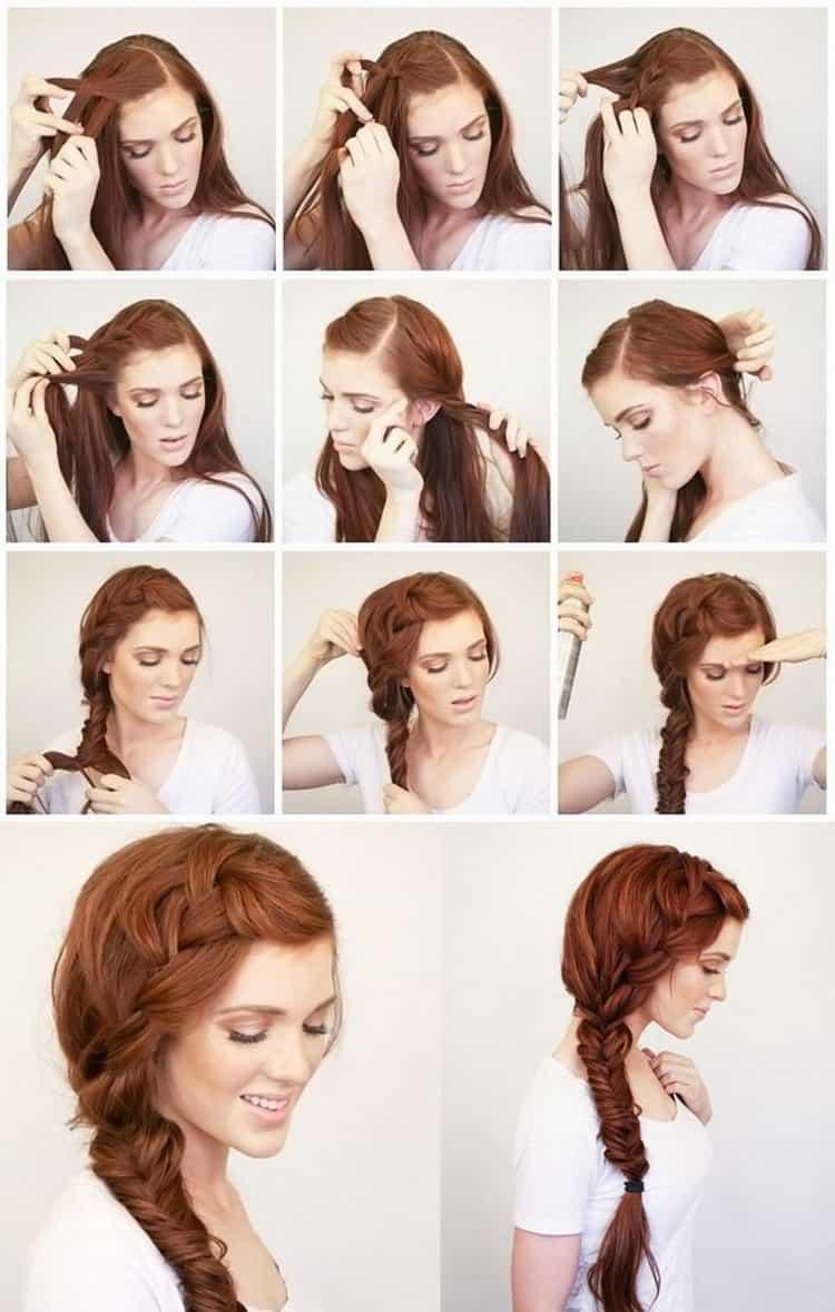 Как делать простые прически на длинные волосы своими руками