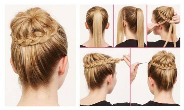 Как делают высокие прически на длинные волосы своими руками