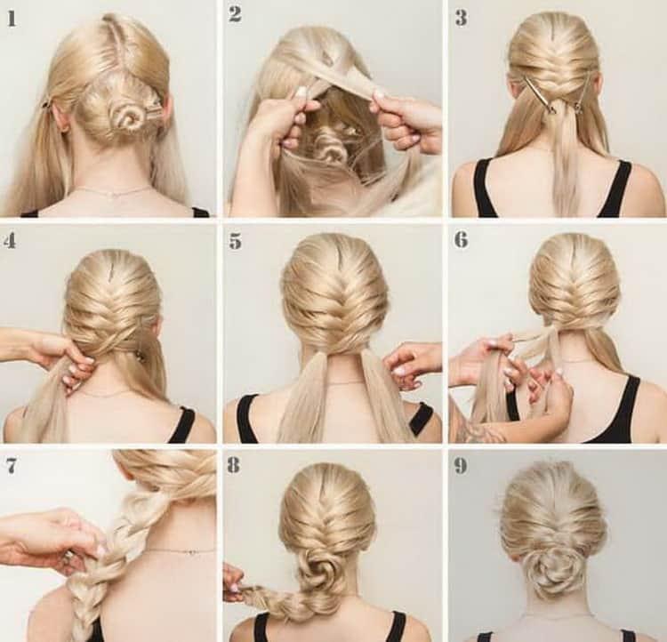 Как делается быстрая прическа на длинные волосы своими руками