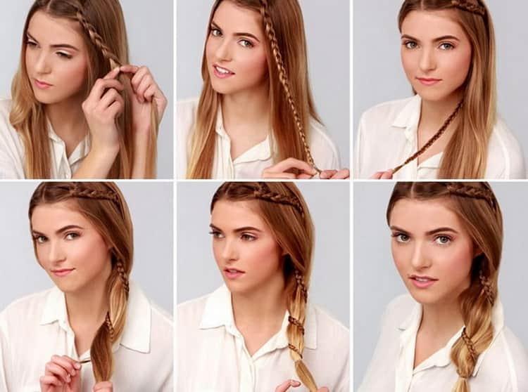 Как делают легкие прически самой себе на длинные волосы