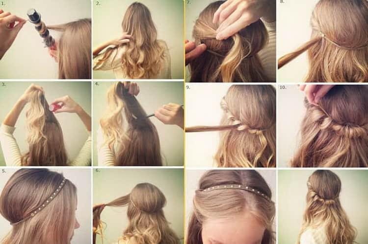 Как сделать прическу самой себе на длинные волосы