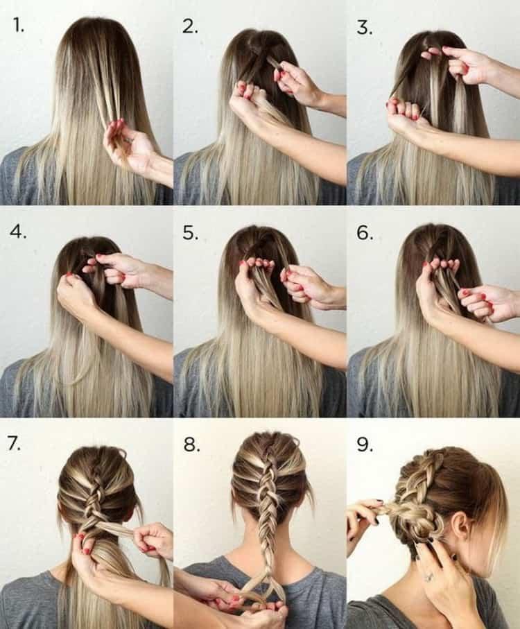 Как делать прически на длинные волосы самой себе