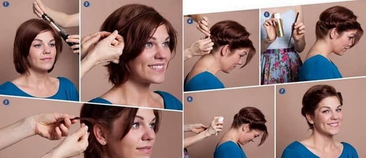 Лучшие прически на короткие волосы на каждый день с пошаговыми фото