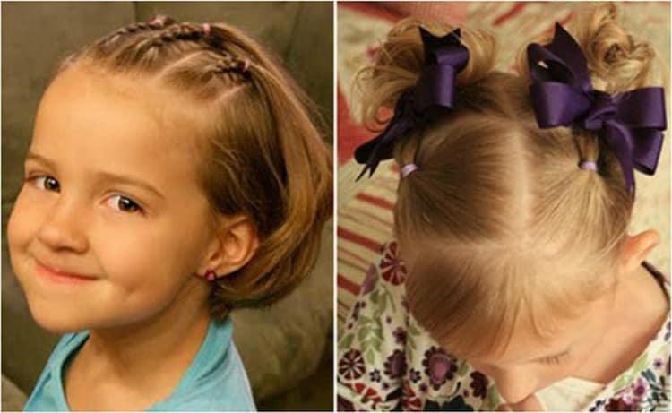 Как делать прически для маленьких девочек на короткие волосы
