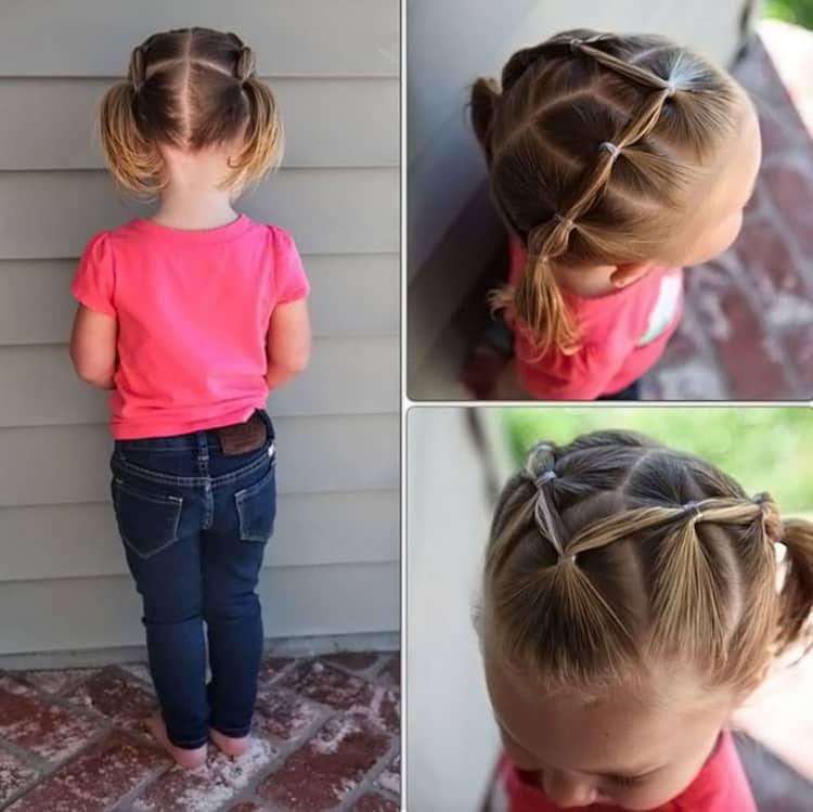 Как делать прически для девочек на короткие волосы, фото