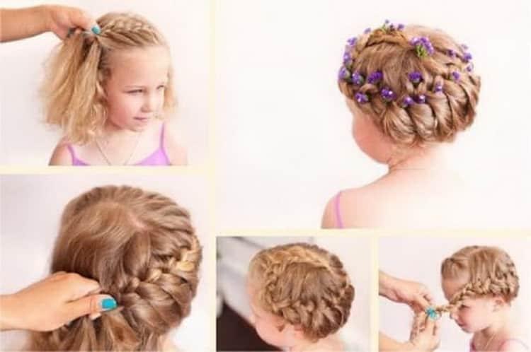 Как делать прически на короткие волосы девочкам в садик