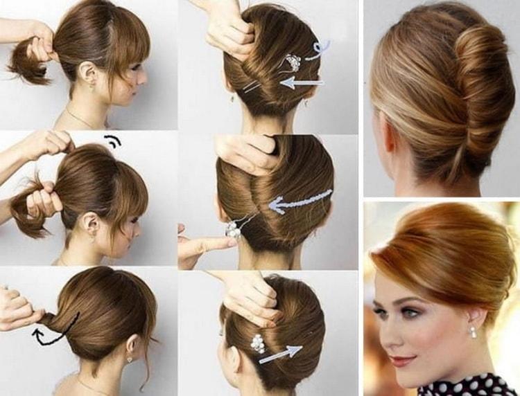 Как делается быстрая и легкая прическа на средние волосы