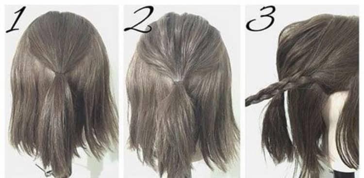 Как делаются легкие прически на средние волосы своими руками