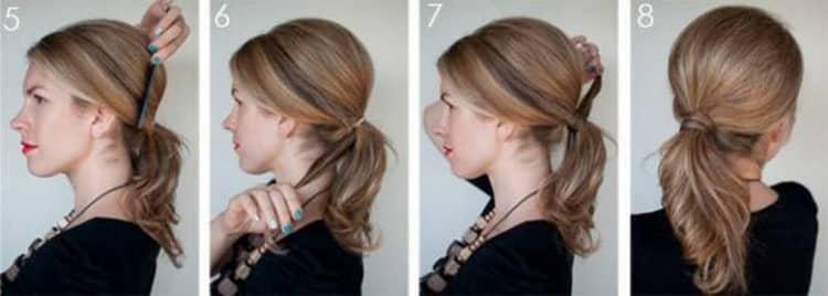 Как делается высокая прическа на средние волосы своими руками