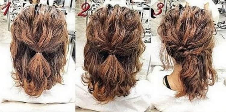 Как делаются прически на скорую руку на средние волосы