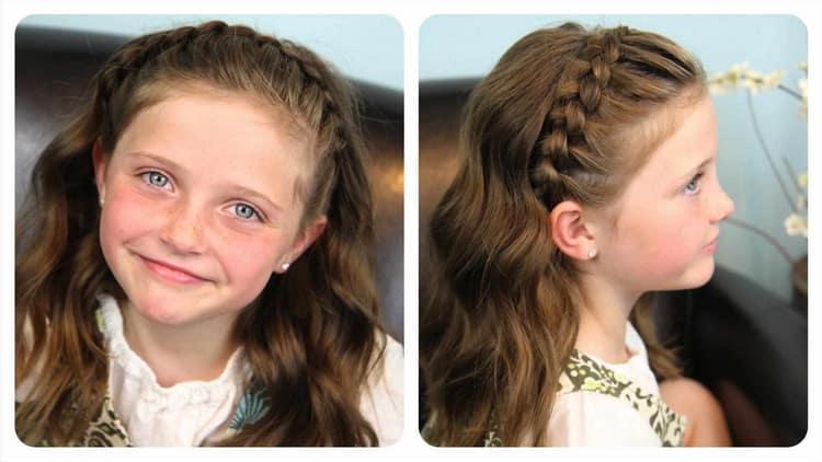 Как делать прически на средние волосы девочке в школу