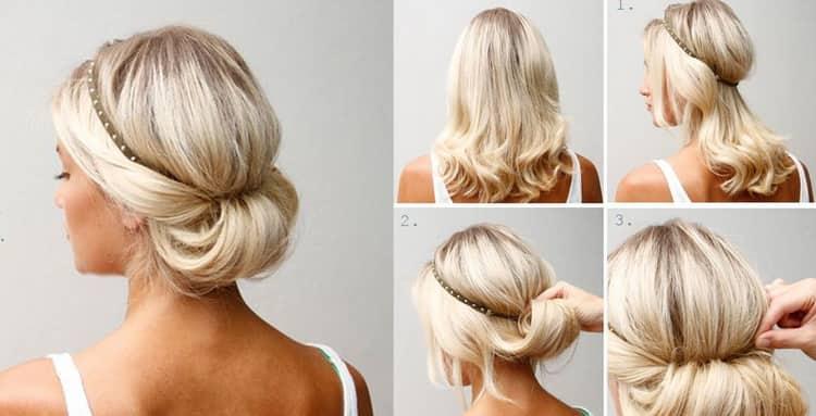 Как делать прически на средние волосы в школу