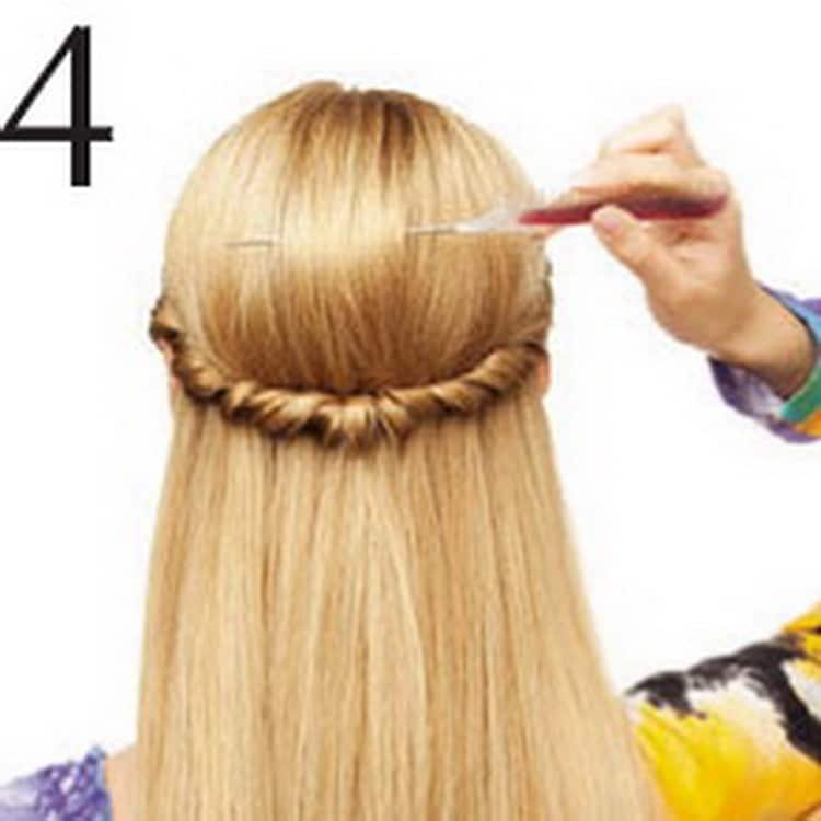 Как делать прически за 5 минут на средние волосы