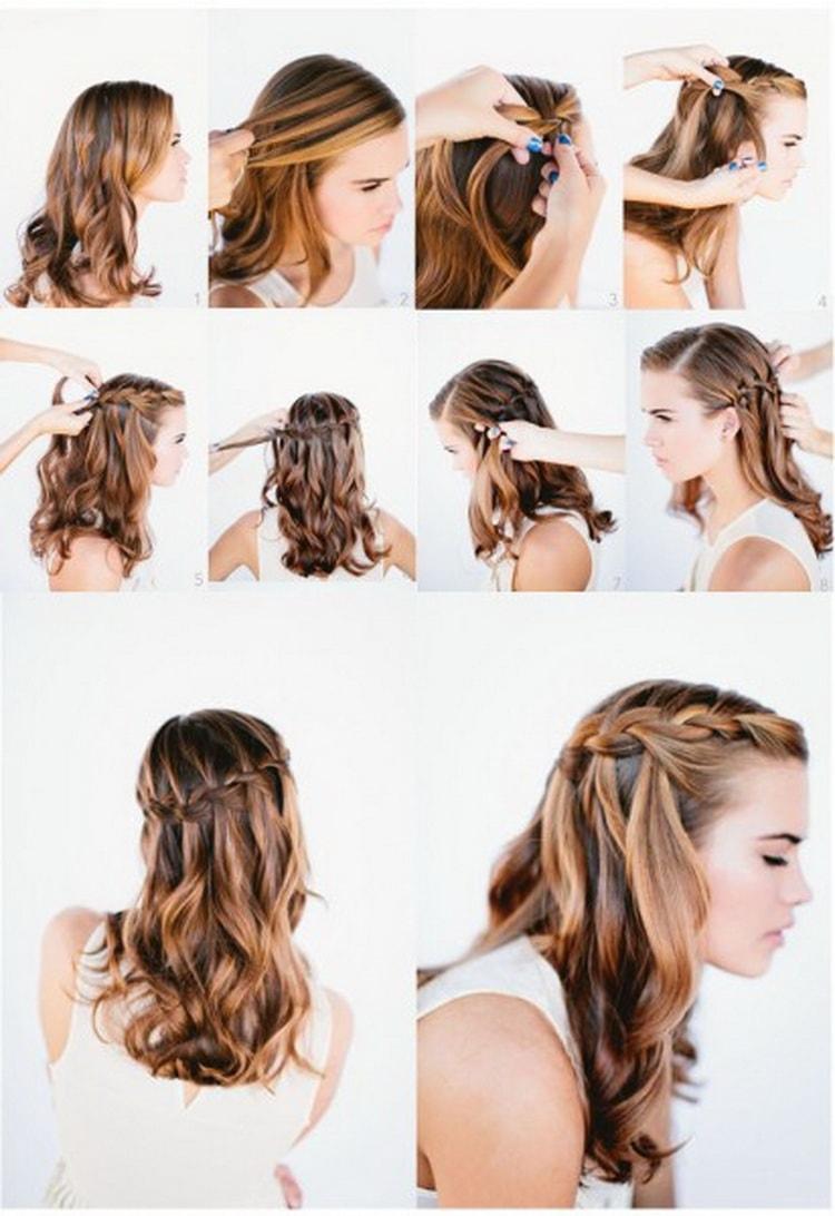 Прическа пучок на средние волосы