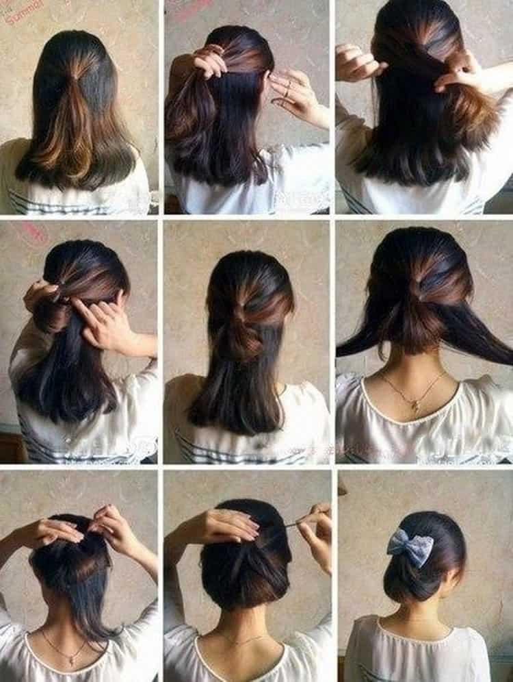 Как сделать прически на средние волосы быстро и легко